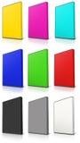 RGB en Geval van CMYK DVD Royalty-vrije Stock Afbeelding