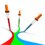 RGB-eyedroppers Royalty Free Stock Photo