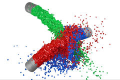 Rgb-Farbenspritzen Stockbild