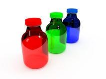 Rgb-flaskuppsättning Arkivbilder