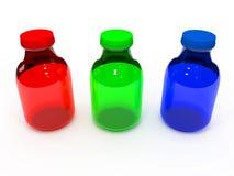 Rgb-flaskuppsättning Royaltyfri Bild