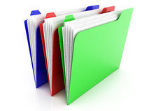RGB Folders Royalty Free Stock Photography