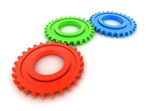 RGB Gears. On white background royalty free illustration