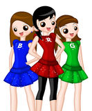 RGB Girls Illustration Royalty Free Stock Image