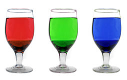 RGB Glasses Stock Photography