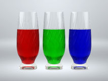 rgb glasses Royalty Free Stock Photography