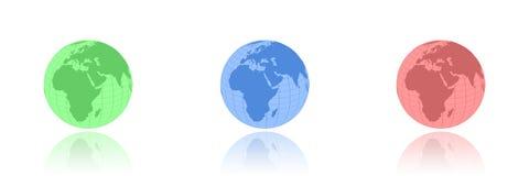 Rgb globes Royalty Free Stock Image