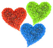 RGB hearts Stock Photos