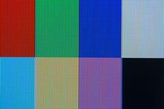 RGB i CMYK kolory na LCD pokazie zdjęcia stock