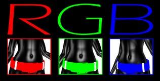RGB kleur stock illustratie
