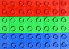 Rgb kleuren - Lego royalty-vrije stock afbeelding