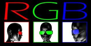 RGB kleurenmodel Stock Foto's