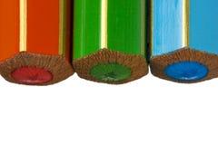 RGB Kleurpotloden van de Kleur Stock Foto's