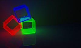 Rgb-kuber Arkivfoton