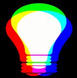 RGB Lamp. Creating the white light or idea from rgb Stock Image