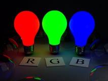 Rgb-Lampen Stockbild