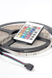 RGB led strip and IR color controler remote Stock Images