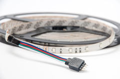 RGB led strip round on the white background Royalty Free Stock Images