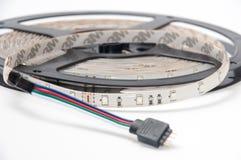 RGB led strip round on the white background Stock Photo