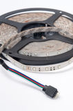 RGB led strip round on the white background Royalty Free Stock Photography