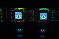 RGB LEDDE Fotografering för Bildbyråer