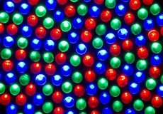 RGB leds. Red,green and blue leds royalty free stock photos