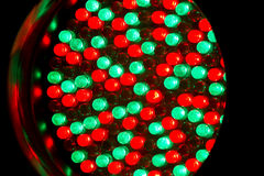 RGB leds. Red and green leds on a panel royalty free stock image