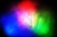 Rgb lichtenachtergrond Stock Afbeelding