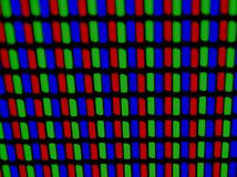 RGB pixels. 40X Microscope Shot of LCD Screen Royalty Free Stock Image