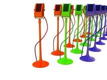 RGB microphones Stock Photography