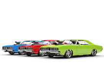 RGB muscle cars Royalty Free Stock Images