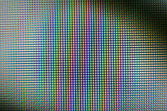 Rgb-Muster auf Monitor Stockbild