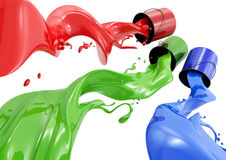 RGB Paint Royalty Free Stock Photography