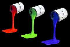 RGB paint cans Royalty Free Stock Images