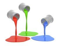 RGB palet Stock Afbeeldingen
