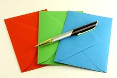 RGB pen van enveloppen Stock Afbeelding