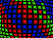 RGB pixels. Red green and blue pixels in computer generated picture Stock Illustration
