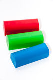 RGB plasticine on a white background Royalty Free Stock Photography