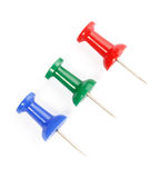 RGB Pushpins Royalty Free Stock Images