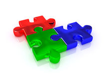 RGB. Puzzle. 3d very beautiful image royalty free stock image