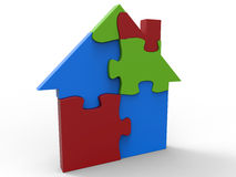 RGB puzzle house concept Stock Photography
