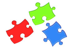 RGB Puzzle Pieces Stock Photography