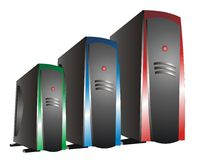 RGB (Red Green Blue) Server. RGB (Red Green Blue) Hosting Server for your hosting company Vector Illustration