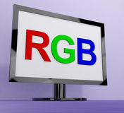 RGB Screen For Television Or Computer Monitor Royalty Free Stock Photo