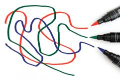 RGB Scribbles Stock Image