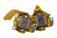 RGB  sensors from digital camera macro Stock Photos