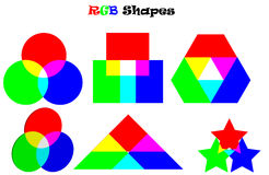 RGB Shapes Royalty Free Stock Images