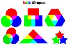RGB Shapes royalty free illustration