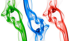 Rgb smokes Royalty Free Stock Images