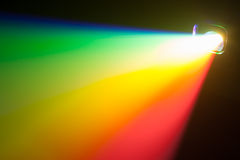 Rgb spectrum light of projector. Color light of projector with copyspace stock photo